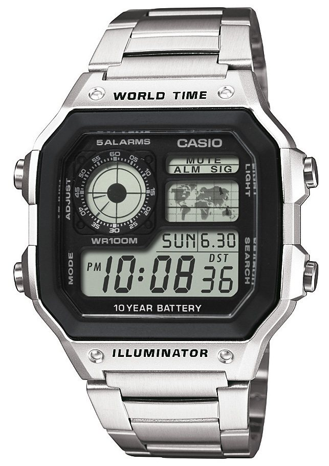 Casio Collection Chronograph »AE-1200WHD-1AVEF« in silberfarben