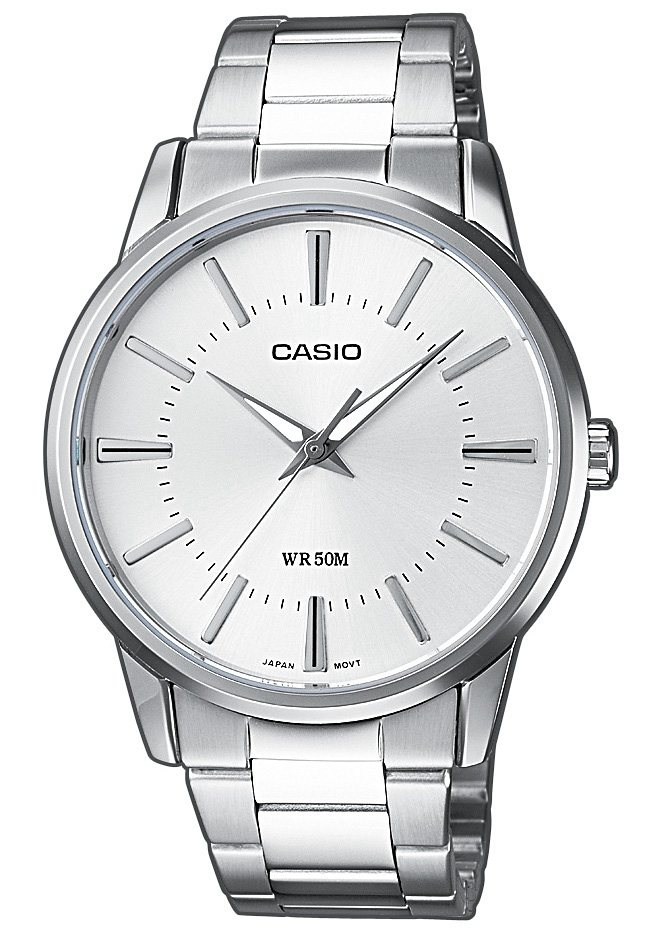"Casio Collection, Armbanduhr, ""MTP-1303PD-7AVEF"" in silberfarben"