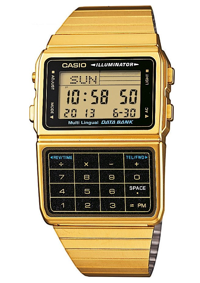 "Casio Collection, Chronograph, ""DBC-611GE-1EF"" in goldfarben"