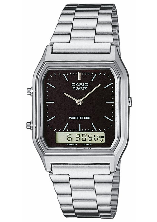 Casio Collection Chronograph »AQ-230A-1DMQYES« in silberfarben