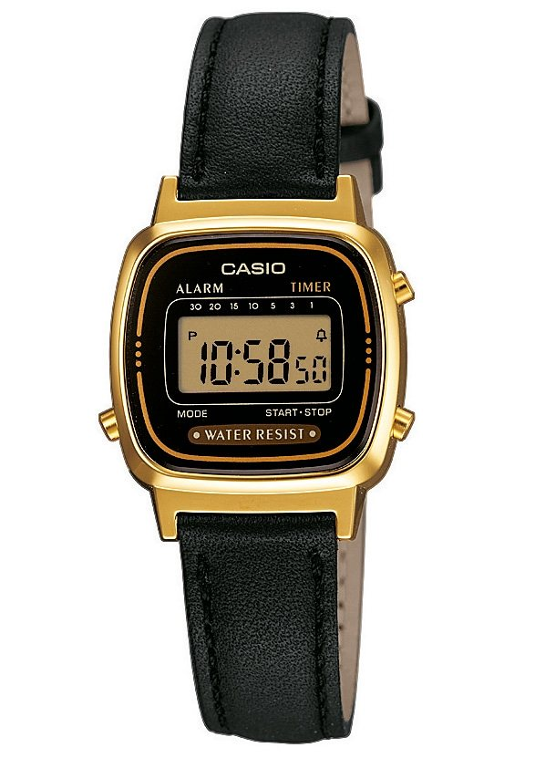 Casio Collection Chronograph »LA670WEGL-1EF« in schwarz