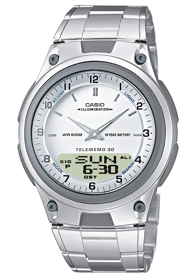 """Casio Collection, Chronograph, """"AW-80D-7AVES"""" in silberfarben"""