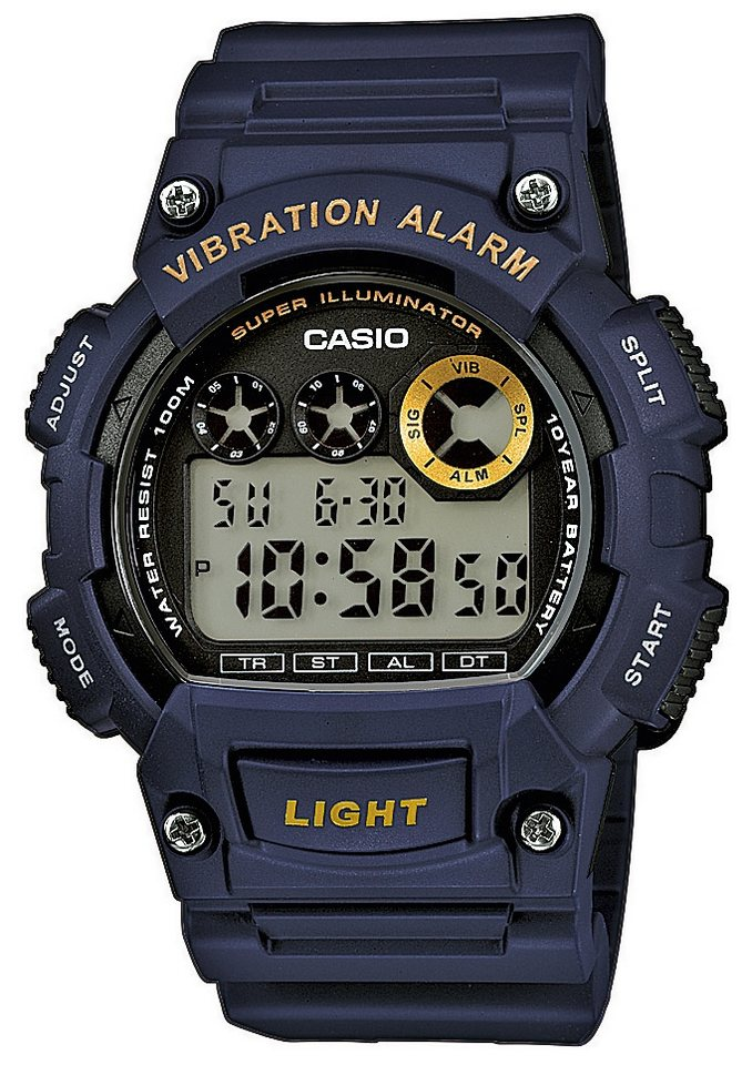 Casio Collection Chronograph »W-735H-2AVEF« in blau