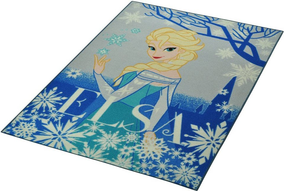 kinder teppich disney lizenz teppich frozen die eisk nigin elsa getuftet online kaufen. Black Bedroom Furniture Sets. Home Design Ideas