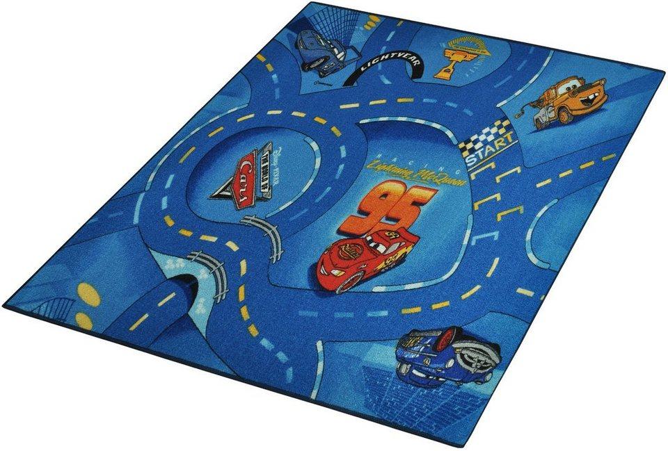 Kinder-Teppich, Disney Lizenz Teppich »CARS«, getuftet in Blau
