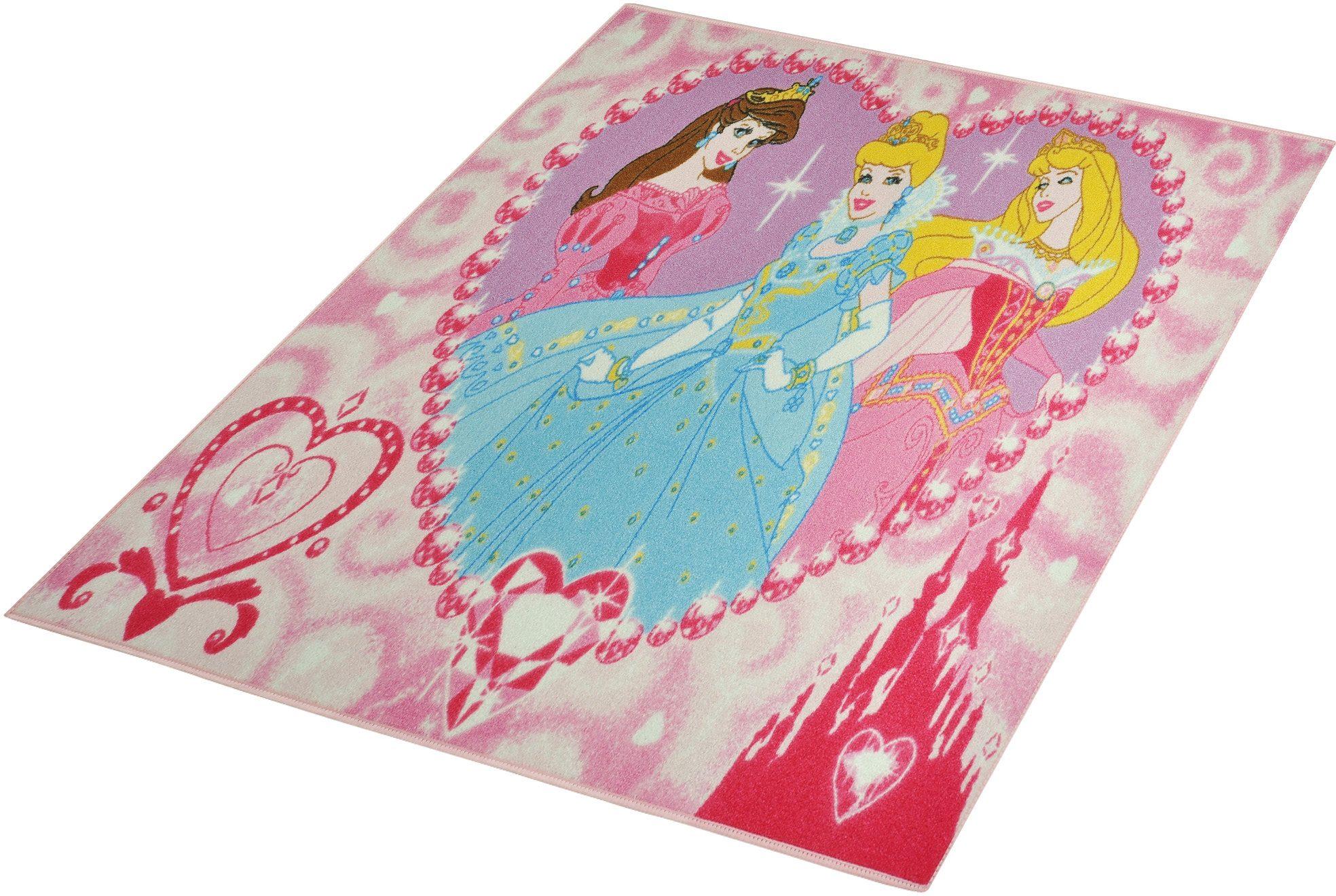 Kinder-Teppich, Disney Lizenz Teppich »Princess - Jewels«, getuftet