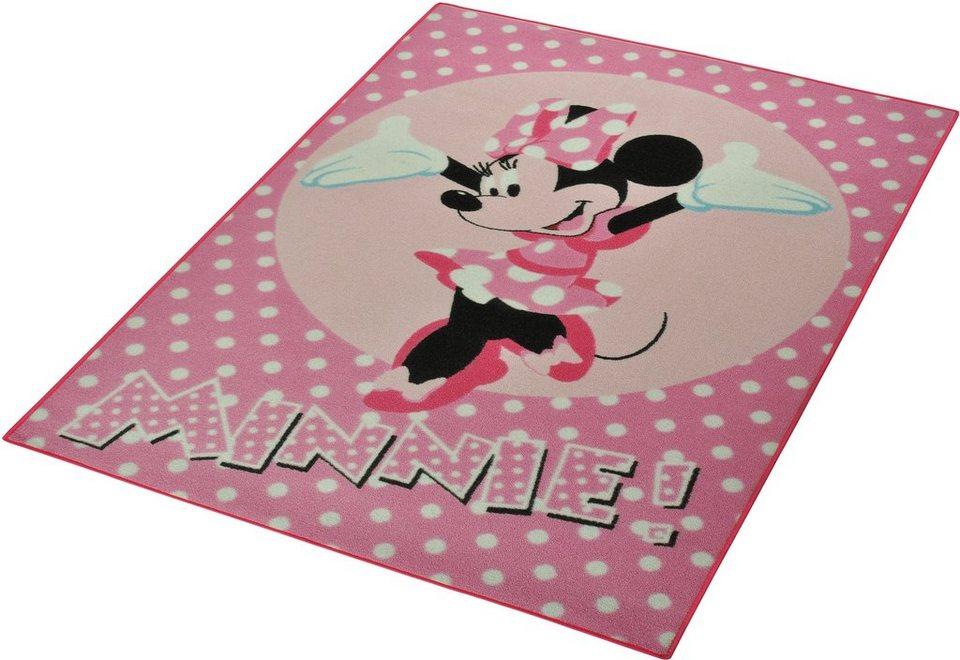 Kinder-Teppich, Disney Lizenz Teppich »Minnie!«, getuftet in Rosa