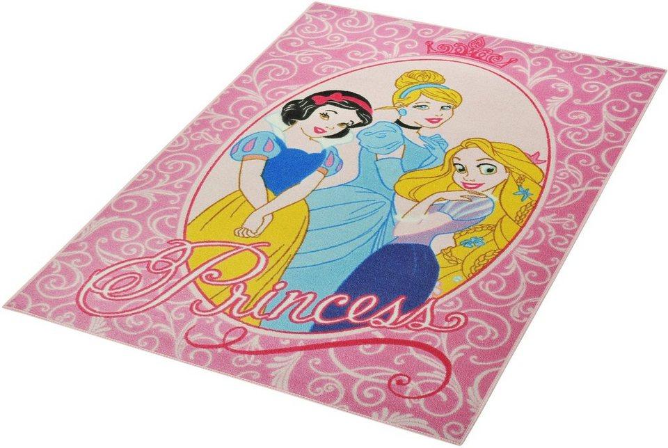 Kinder-Teppich, Disney Lizenz Teppich »Princess«, getuftet in Rosa