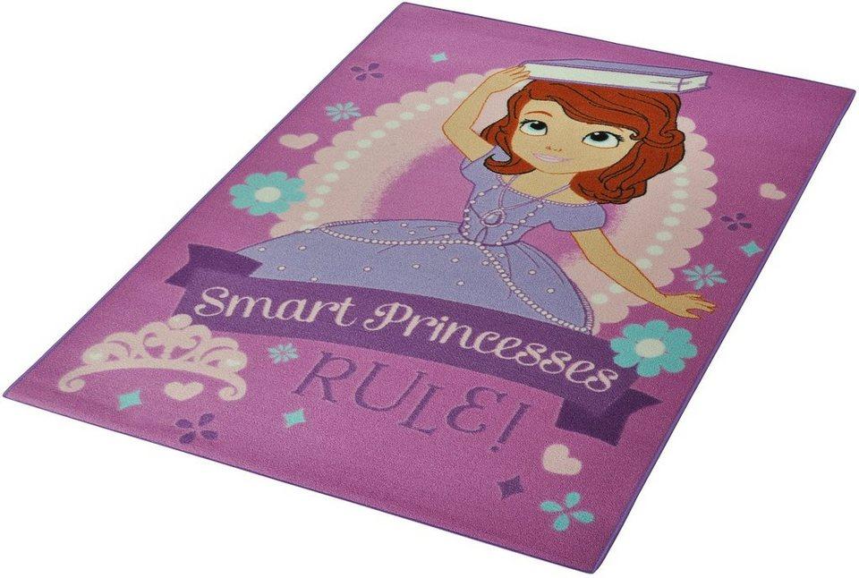 Kinder-Teppich, Disney Lizenz Teppich »Sofia die Erste - Regeln«, getuftet in Rosa