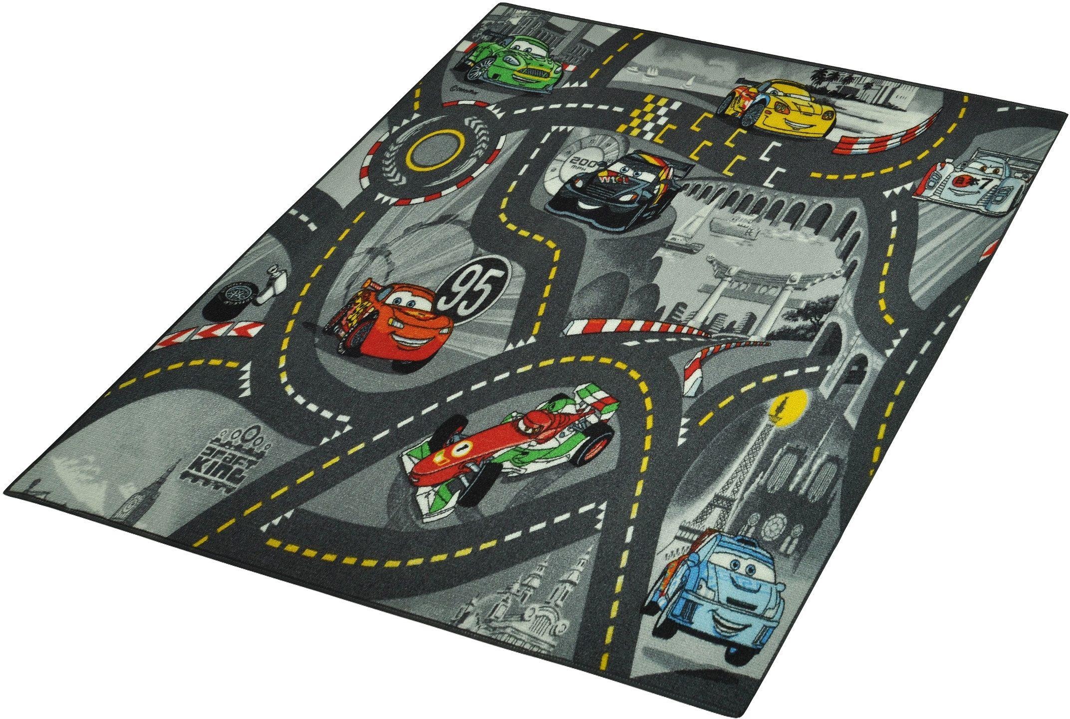 Kinderteppich »CARS«, Cars, rechteckig, Höhe 7 mm, Straßenteppich