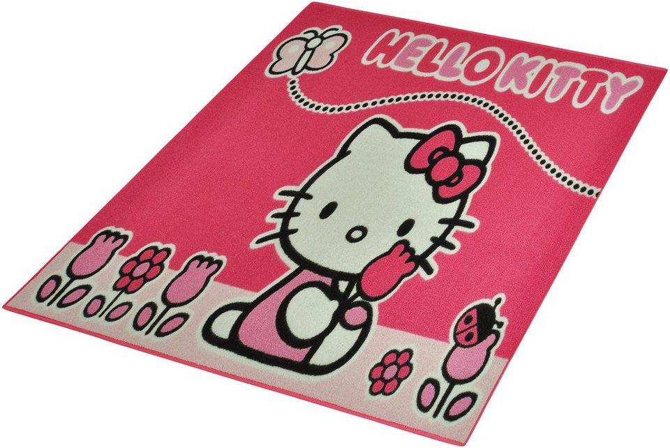 Kinder-Teppich, Hello Kitty Lizenz , »Hello Kitty - Schmetterling«, getuftet in Rosa