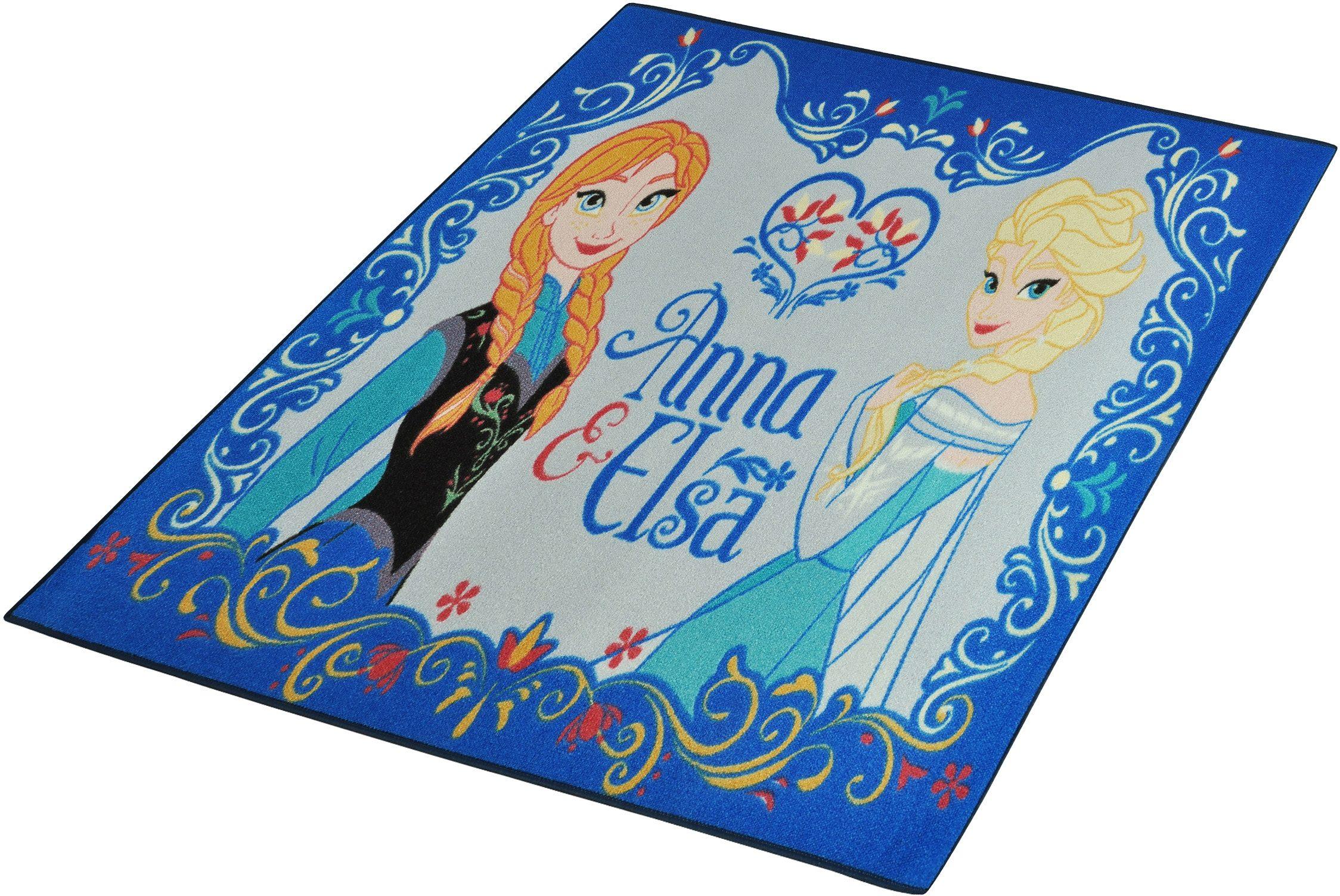 Kinder-Teppich, Disney Lizenz Teppich »Frozen / Die Eiskönigin - Anna & Elsa«, getuftet