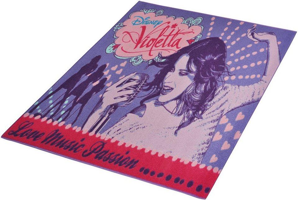 Kinder-Teppich, Disney Lizenz Teppich »Violetta - Music«, getuftet in Lila Rosa