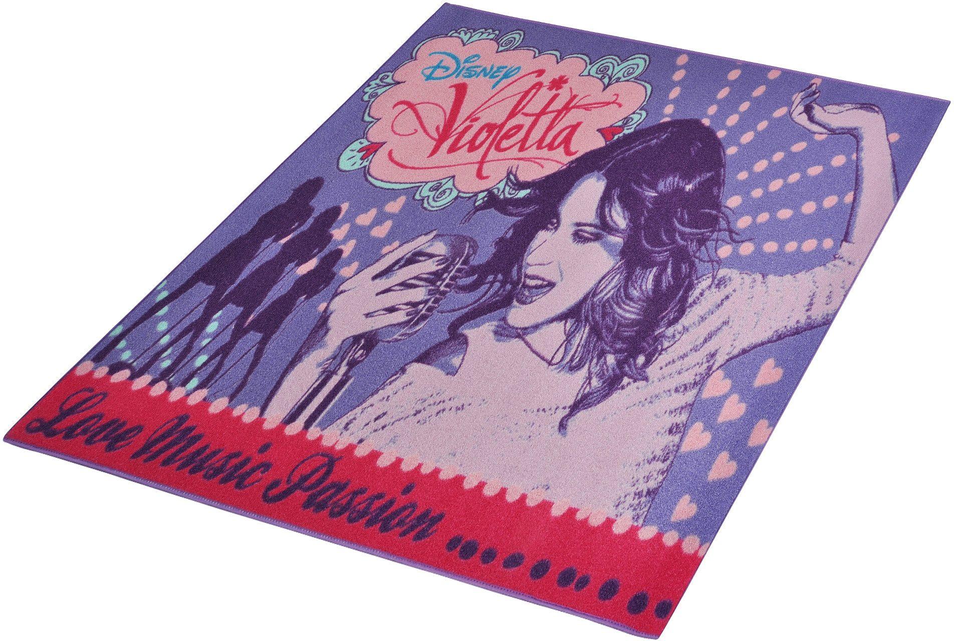 Kinder-Teppich, Disney Lizenz Teppich »Violetta - Music«, getuftet