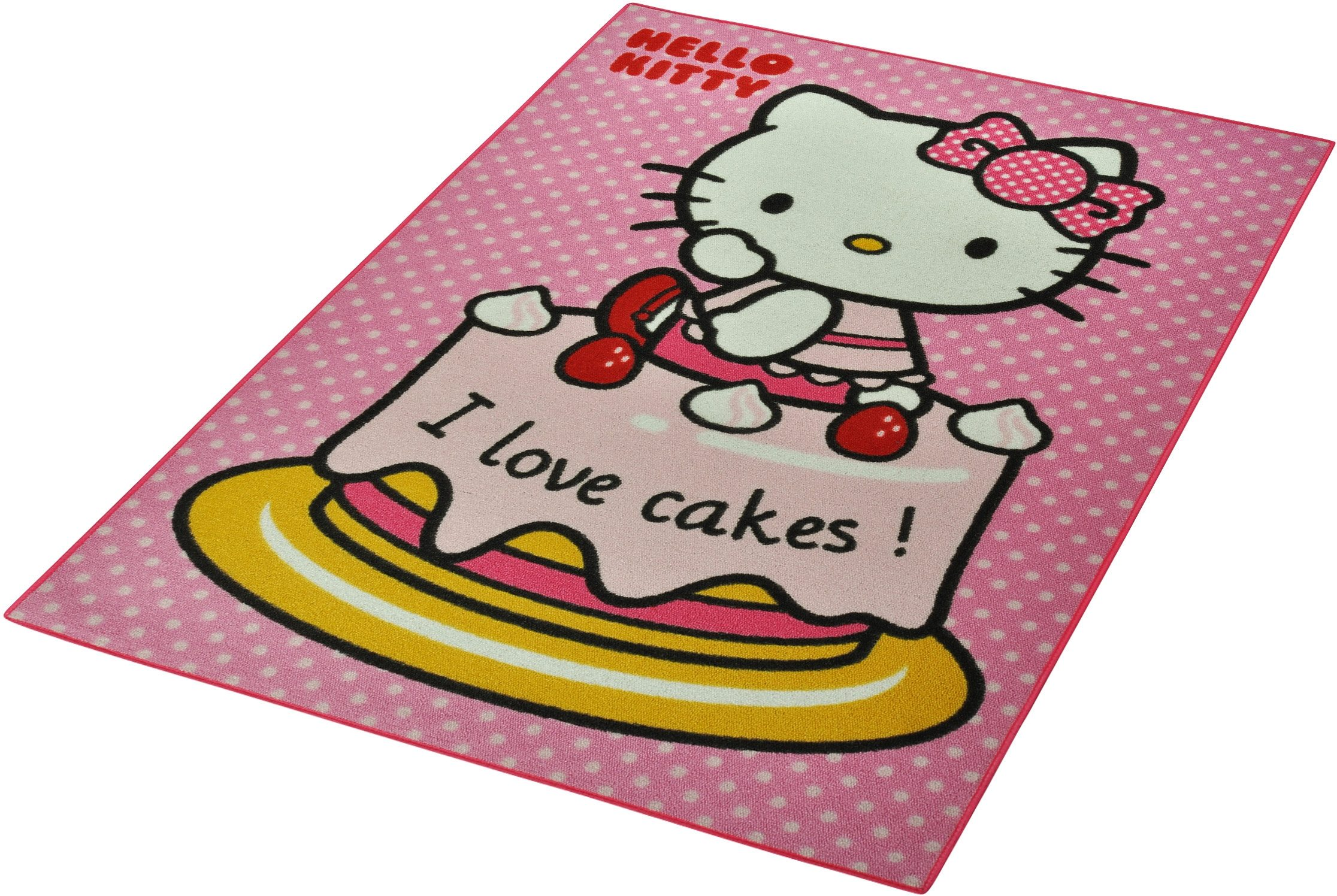 Kinder-Teppich, Hello Kitty Lizenz Teppich »Hello Kitty - Cake«, getuftet