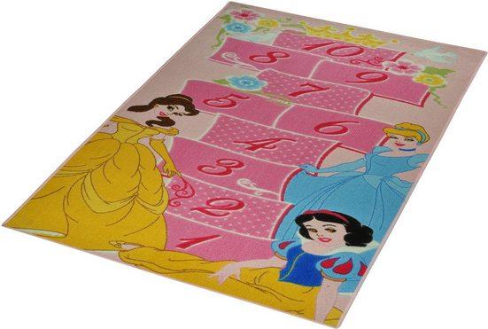 Kinderteppich »Princess - Hüpfspiel«, Disney, rechteckig, Höhe 7 mm