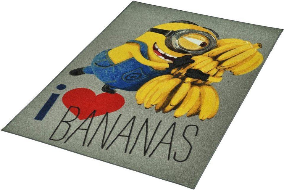 Kinder-Teppich, Minions Lizenz Teppich »Minions - Love Bananas«, getuftet in Gelb