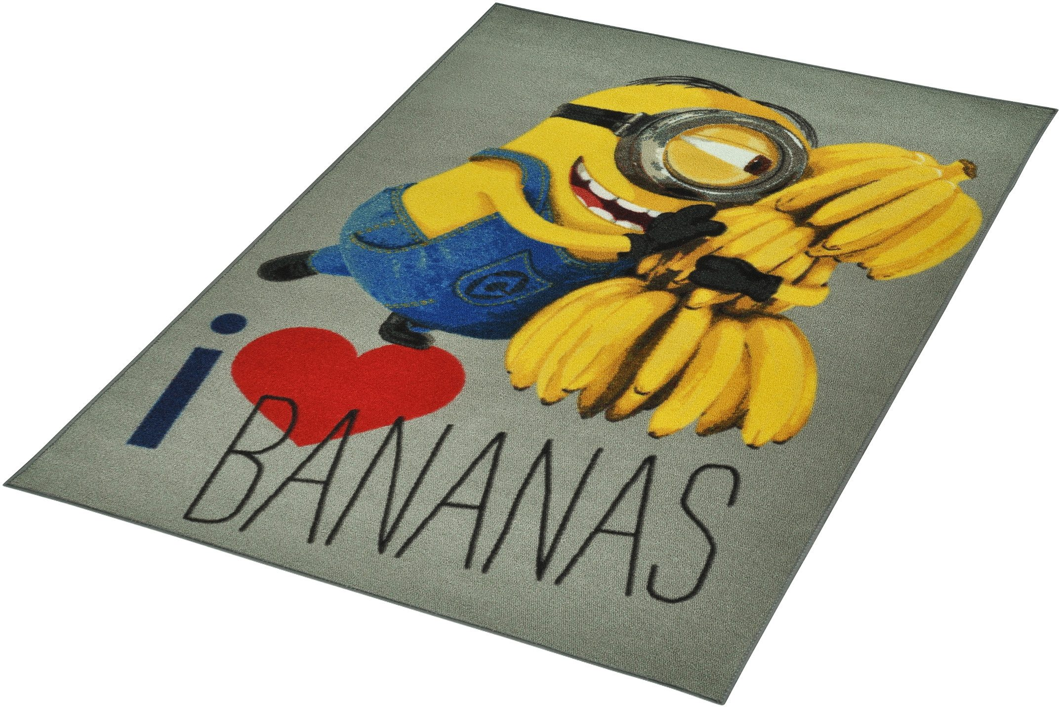 Kinder-Teppich, Minions Lizenz Teppich »Minions - Love Bananas«, getuftet