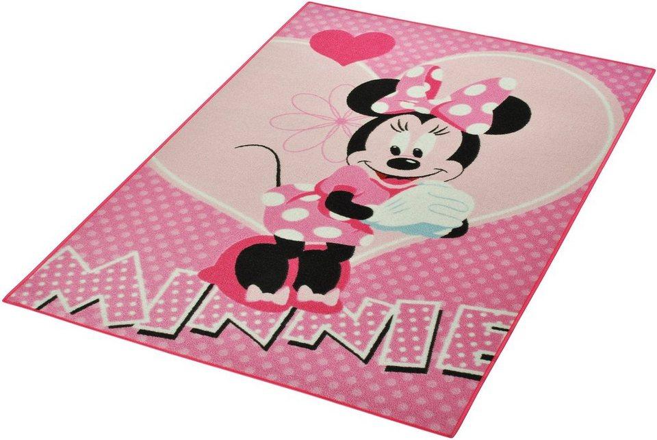 Kinder-Teppich, Disney Lizenz Teppich »Minnie«, getuftet in Rosa