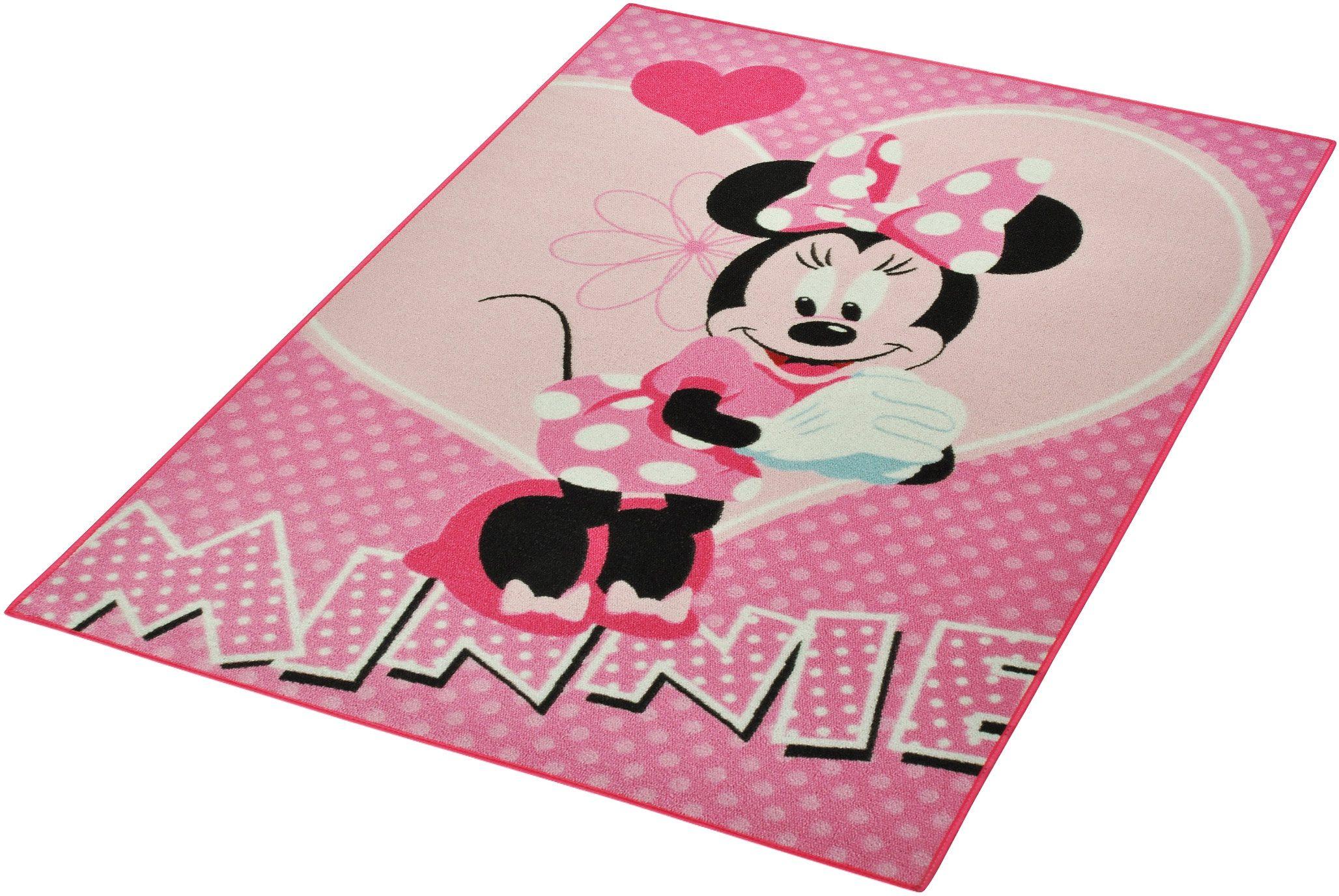 Kinderteppich »Minnie«, Disney, rechteckig, Höhe 7 mm