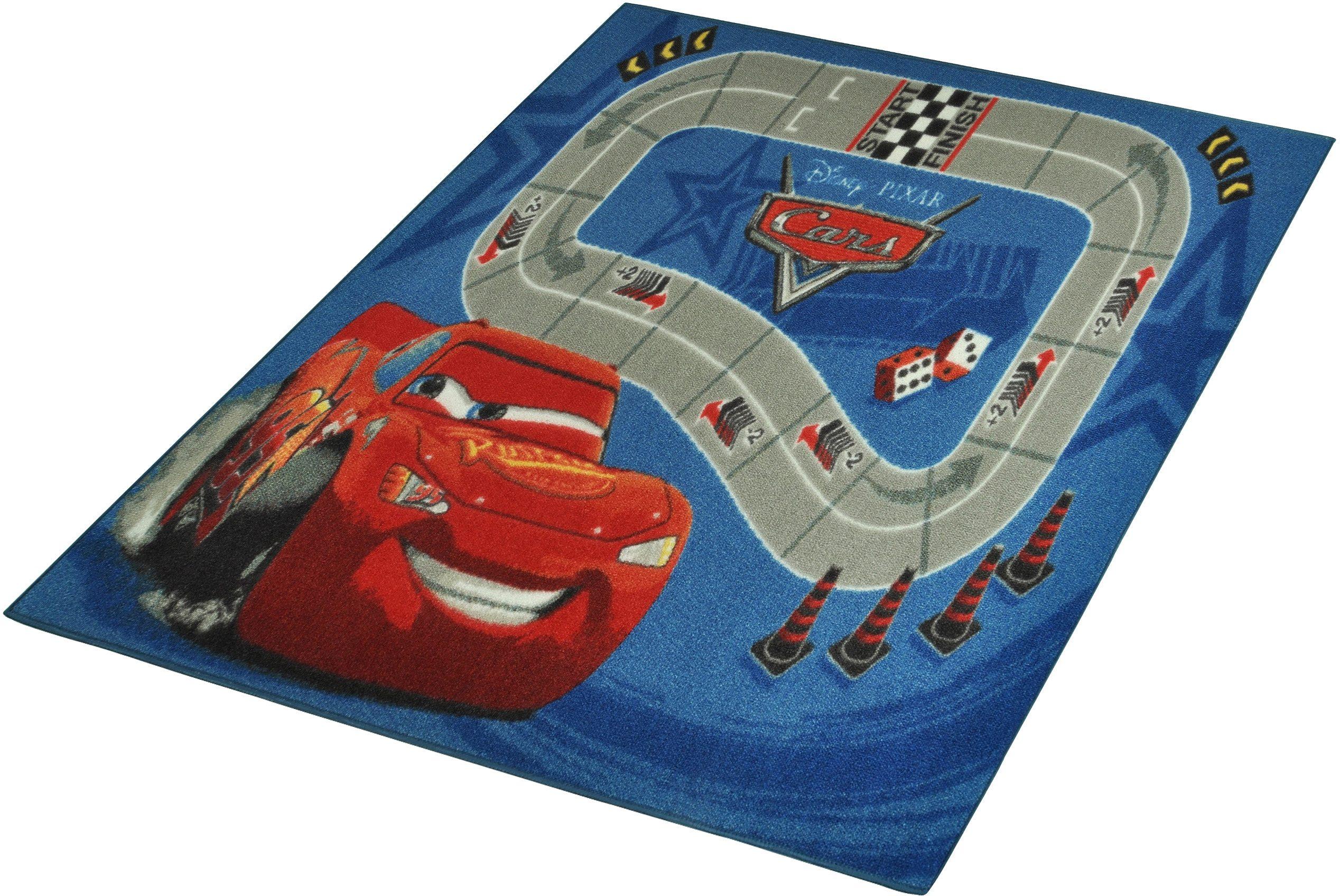 Kinderteppich »CARS«, Cars, rechteckig, Höhe 7 mm, Rennstrecke
