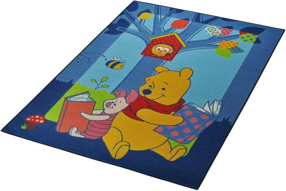 Kinder-Teppich, Winnie The Puhh Lizenz Teppich »Winnie Puuh - Bücher«, getuftet in Gelb