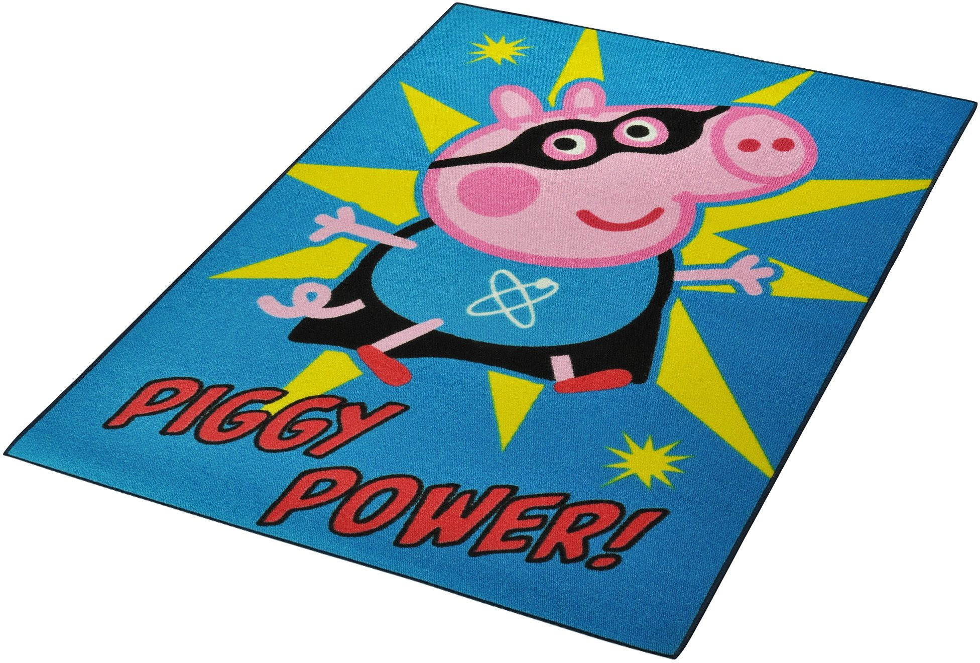 Kinderteppich »Lizenz Peppa Pig - Piggy Power«, HANSE Home, rechteckig, Höhe 7 mm