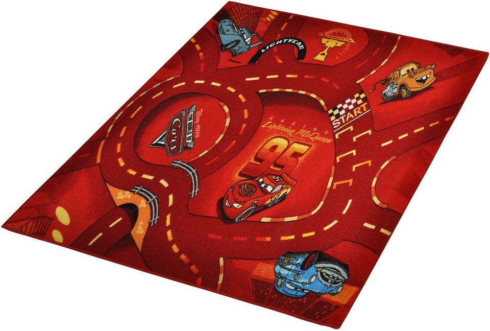 Kinder-Teppich, Cars Lizenz Teppich »CARS«, getuftet in Rot