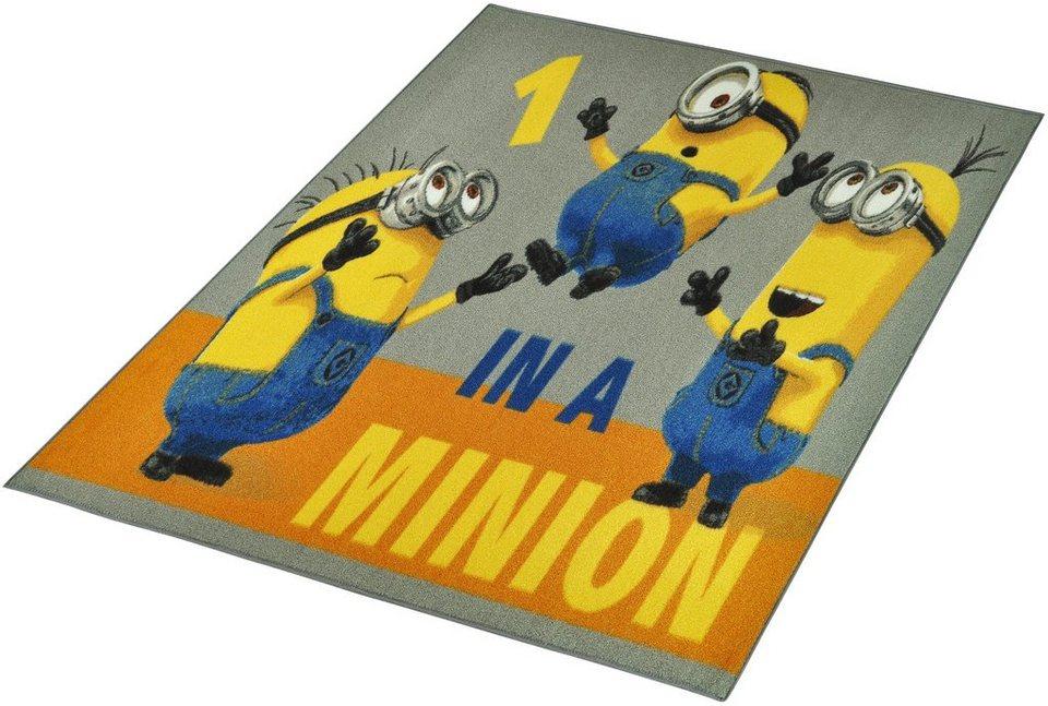 Kinder-Teppich, Minions Lizenz Teppich »Minions - One in a Minion«, getuftet in Gelb