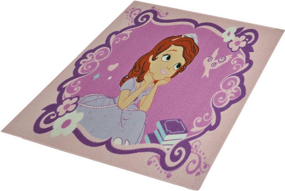 Kinder-Teppich, Disney Lizenz Teppich »Sophia die Erste«, getuftet in Rosa