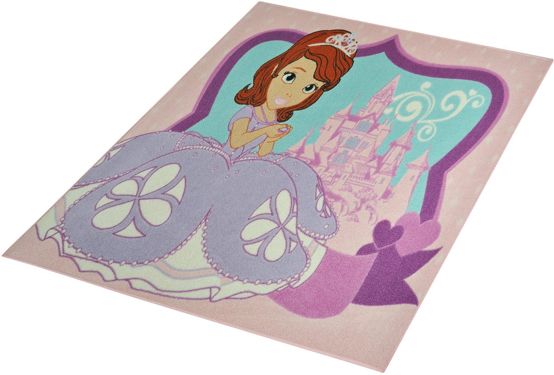 Kinderteppich »Sofia die Erste - Märchenschloss«, Disney, rechteckig, Höhe 7 mm