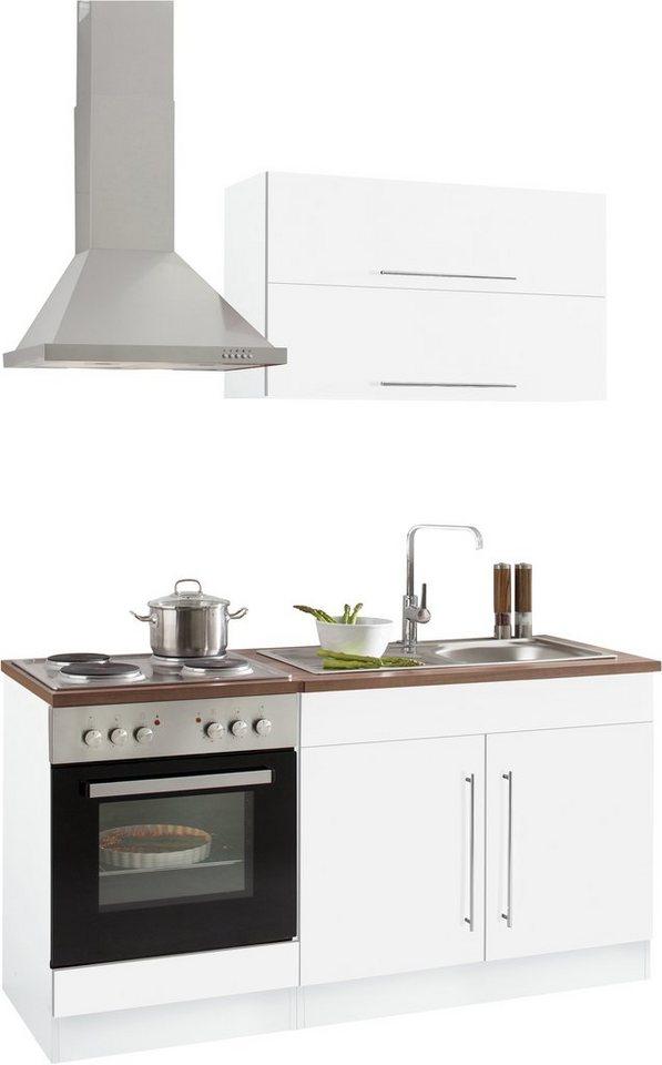 HELD MÖBEL Küchenzeile »Samos«, mit E-Geräten, Breite 160 cm online kaufen  | OTTO