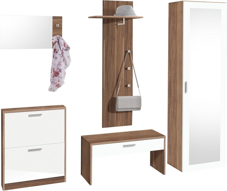 garderoben set torino 5 tlg mit 5 haken otto. Black Bedroom Furniture Sets. Home Design Ideas