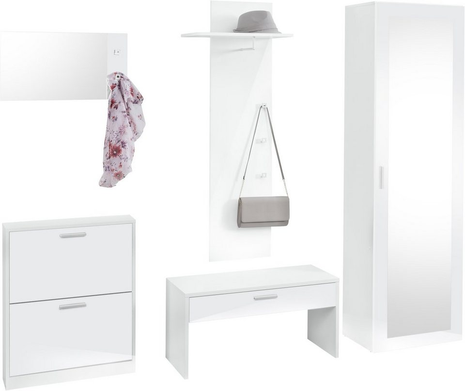 garderoben set schwarz excellent garderobe smart schwarz wei xxcm with garderoben set schwarz. Black Bedroom Furniture Sets. Home Design Ideas