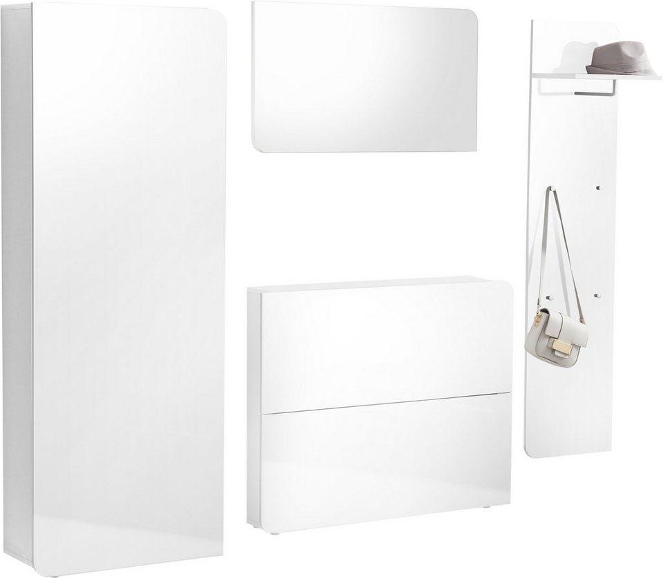 Garderoben-Set »Goccia« (4-tlg.) in weiß-weiß