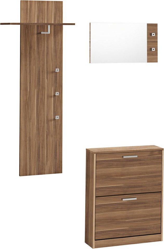Garderoben-Set »Torino« (3-tlg.) in nussbaumfarben matt
