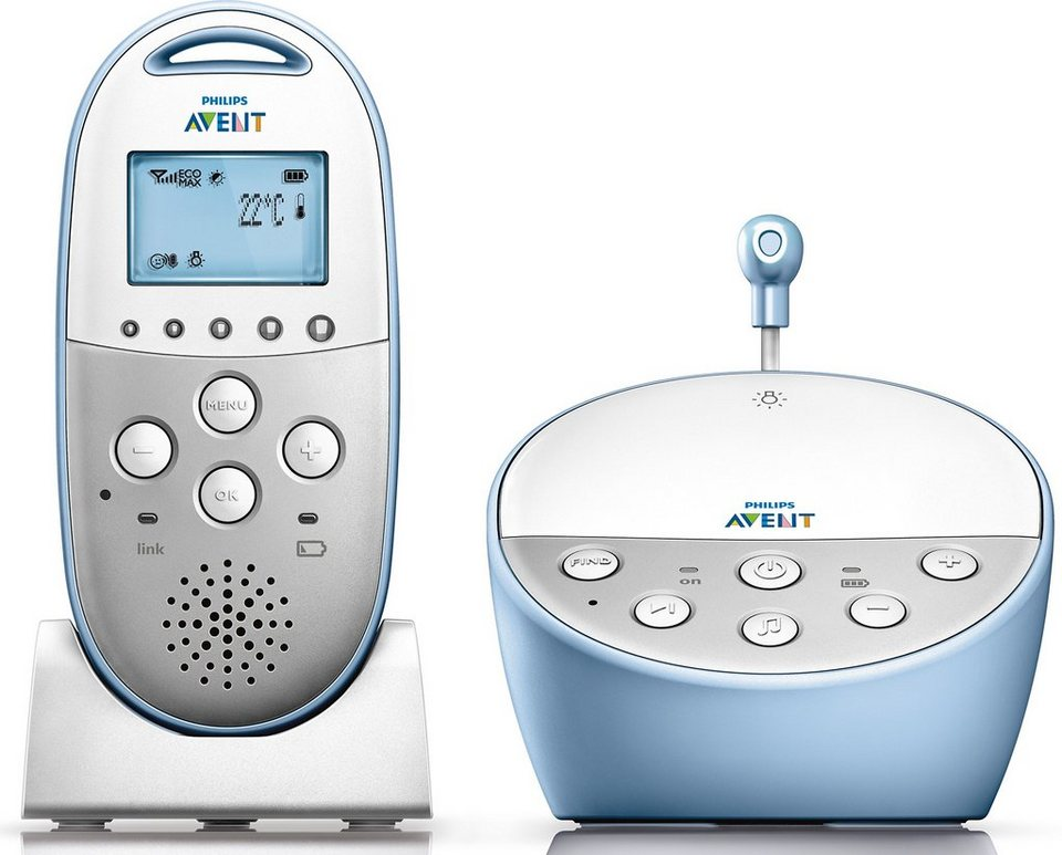 Philips, DECT Babyphone, SCD570/00, mit Smart Eco Mode in weiß/blau