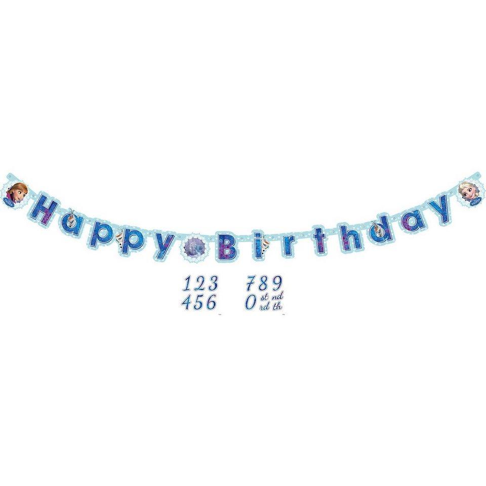 Amscan Girlande Happy Birthday personalisiert Die Eiskönigin in blau