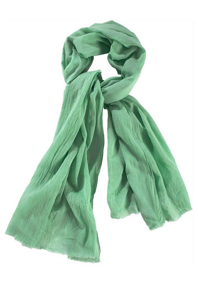 J. Jayz Schal »mit feiner Fransenkante« in hellgrün