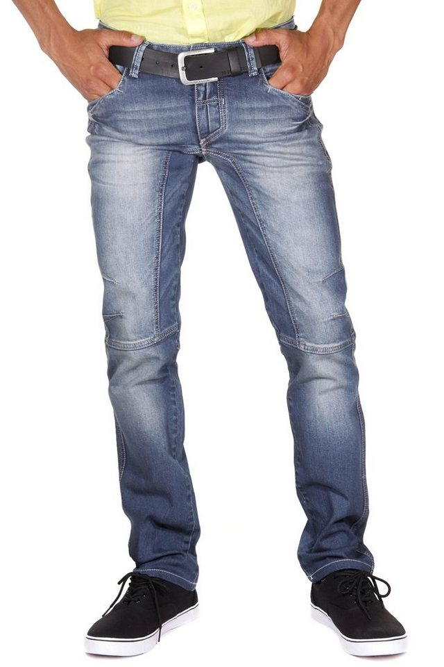 DIFFER Hüftjeans (stretch) regular fit in blau