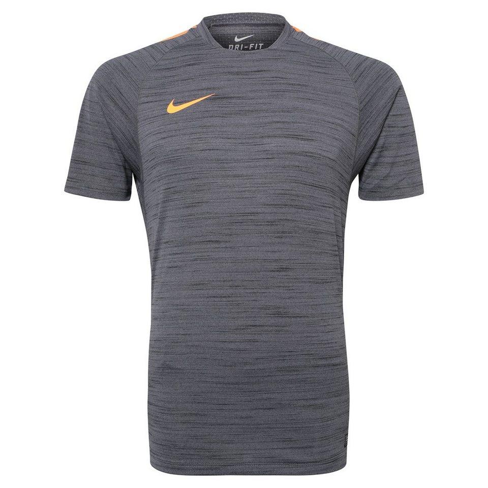 NIKE Flash Cool Top Trainingsshirt Herren in anthrazit / orange