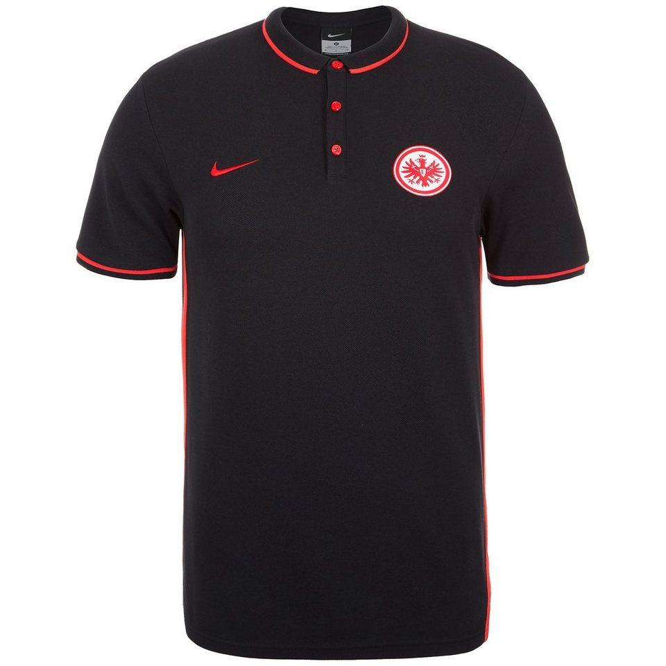 NIKE Eintracht Frankfurt Authentic Poloshirt Herren in schwarz / rot