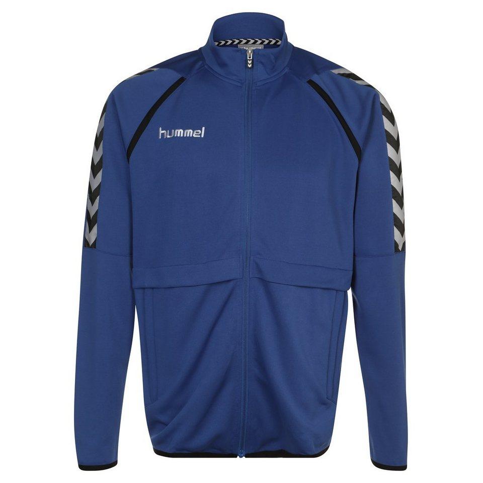 HUMMEL TEAMSPORT Stay Authentic Poly Trainingsjacke Herren in blau / schwarz