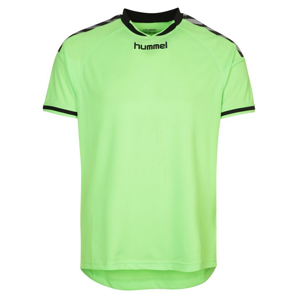 HUMMEL TEAMSPORT Stay Authentic Poly Trainingsshirt Herren in lime / schwarz