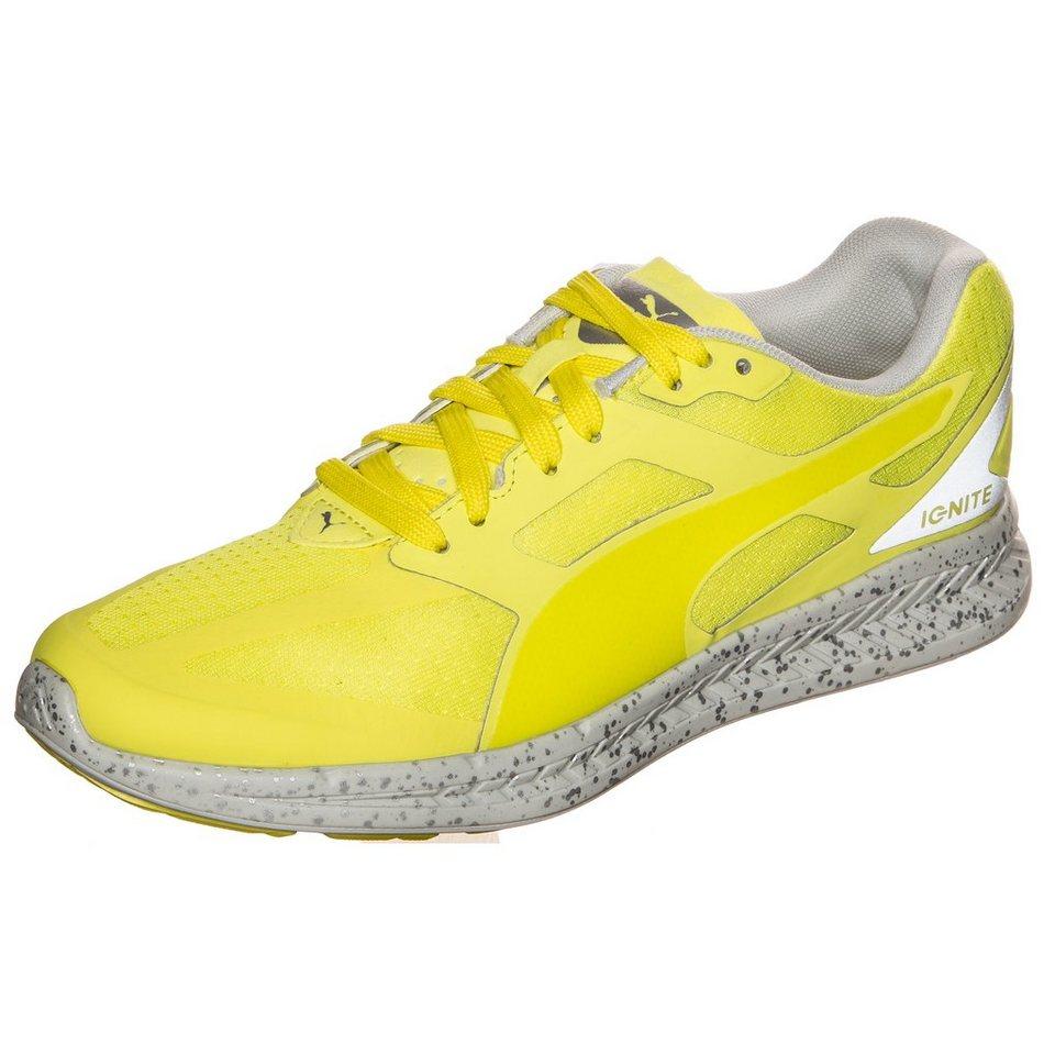 PUMA Ignite Fast Forward Sneaker Damen in gelb / grau / silber