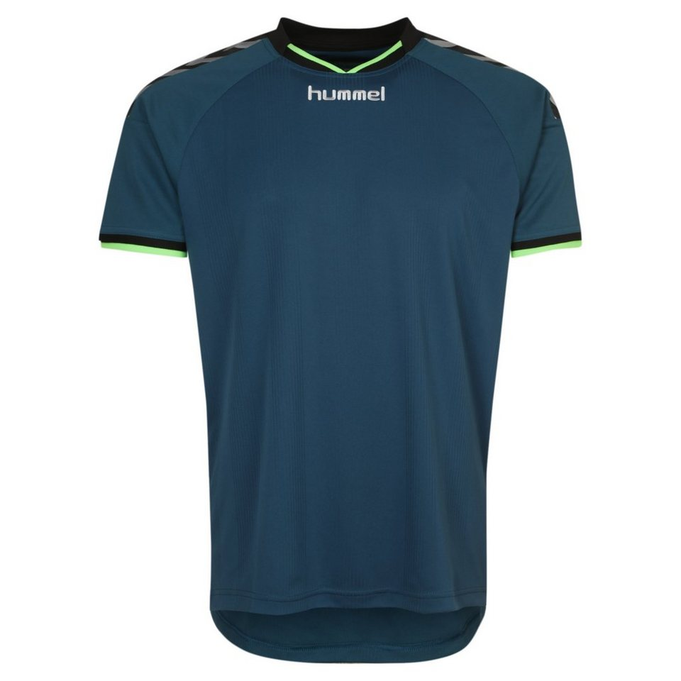 HUMMEL TEAMSPORT Stay Authentic Poly Trainingsshirt Herren in blau / lime