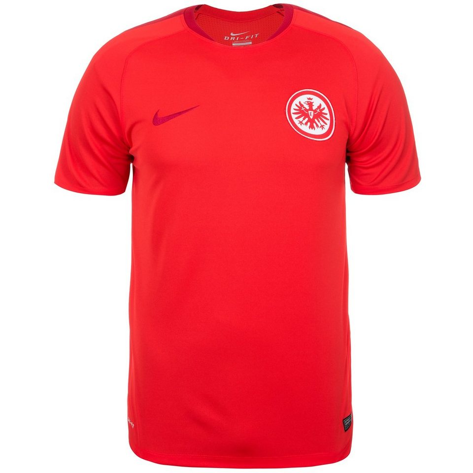 NIKE Eintracht Frankfurt Flash Trainingsshirt Herren in rot / rot