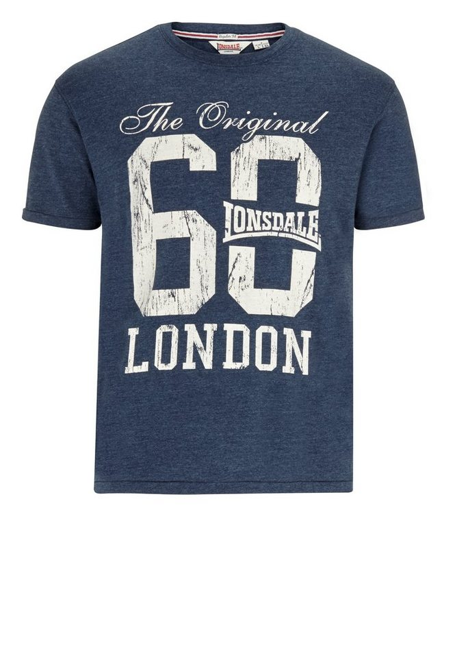 Lonsdale T-Shirt in Marl Navy