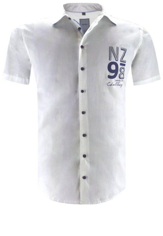 greyes Kurzarmhemd in Weiß