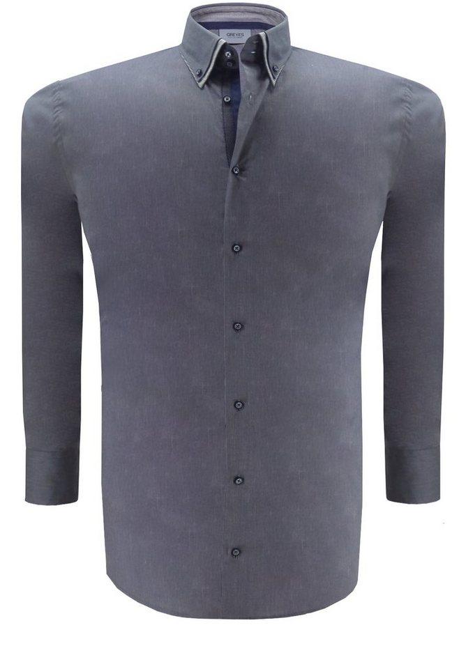 greyes Greyes Oberhemd in Grau